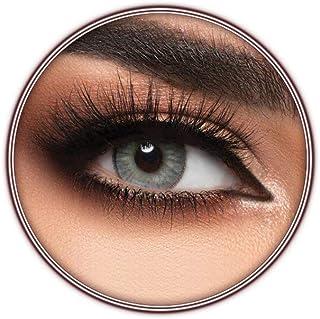Lensme Cloud Contact Lenses, Original Unisex Lensme Cosmetic Contact Lenses, Six Months Disposable, Cloud (Silver Grey Color)
