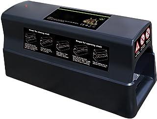 Power-Preise24 Trampa eléctrica para ratas - Trampa eléctrica que se puede conectar a la red o utilizando pilas