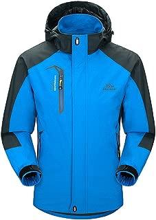 BIYLACLESEN Men's Water Resistant Lightweight Softshell Hiking Jackets Rain Jackets Windbreaker with Hood