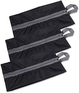Schramm® Sac à Chaussures 3 pièces Noir Sac de Rangement pour Chaussures 37 x 20 cm Sac à Chaussures Organisateur Sacs à C...