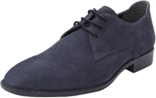 Salt N Pepper Professional Suede Black Brown 100% Pure Leather Formal Lace Up Shoes for Men