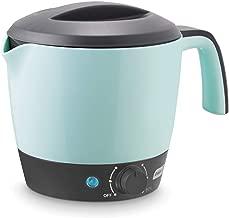 Dash DMC100AQ Express Electric Cooker Hot Pot with Temperature Control for Noodles, Rice, Pasta, Soups, Boiling Water & More, 1.2 L, Aqua