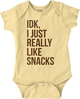 Brisco Brands Snacks Funny Hungry Ironic Cute Hangry Romper Bodysuit