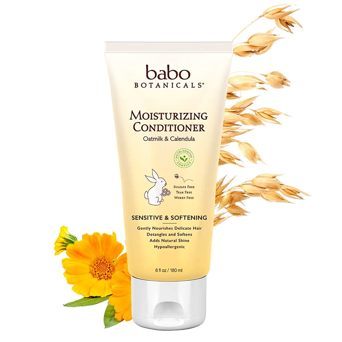 最もマイルストーンキャンディーBabo Botanicals Moisturizing Conditioner (For Sensitive & Dry Hair & Scalp) 180ml/6oz