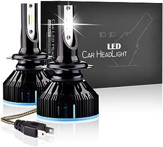 Blanco Fr/ío 60W Luces Antiniebla Bombillas 6000K 2400 L/úmenes IP68 Impermeable LED Lamparas LTPAG 2pcs Bombilla H7 LED Coche