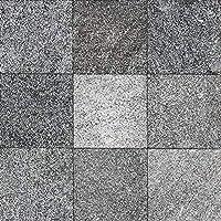 壁石 壁 石 インドネシア 溶岩 板 プレート 黒 ラバストーン 壁材 石材 溶岩石 200角 15枚 ラヴァストーン タイル厚 板材 建材