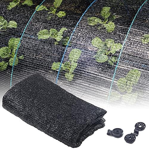 40 De Protection Solaire En Tissu D'ombrage Noir Résistant, Bâche En Maille D'ombrage De Jardin Pour Couverture Végétale, Serre, Poulailler, Tomates, Plantes