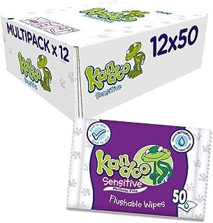 Pack de 12 paquetes de toallitas Kandoo, 600toallitas en total