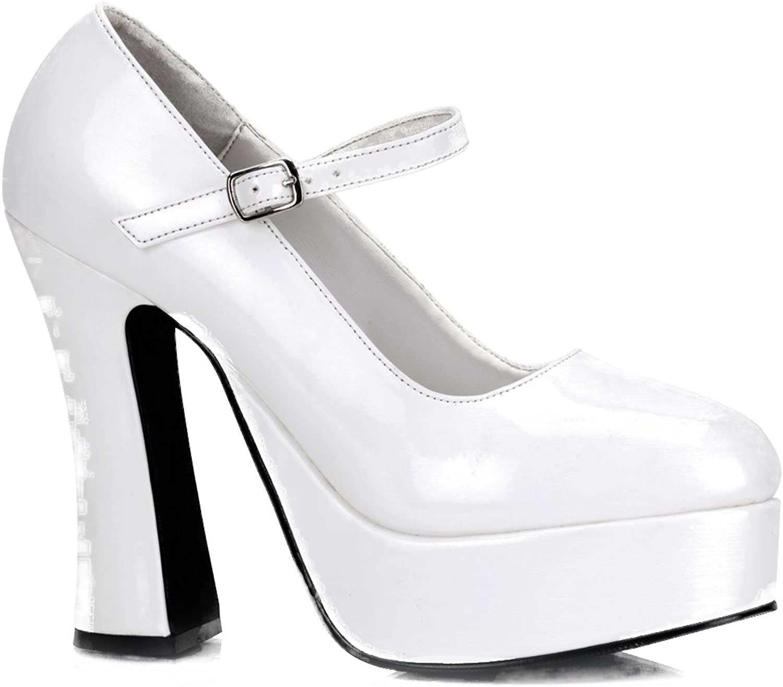 Demonia Women's Dolly-50 Mary Jane Platform Pump White