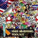 Free Tool Kit MAO JDM Anime Graffiti Cartoon Car Auto Laptop Vinyl Wrap Sticker Decal Film Sheet - 12'X60'