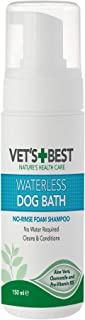 Vet's Best Waterless Dog Bath | No Rinse Dry Shampoo for Dogs | Natural Formula Refreshes Coat and Controls Odor Between B...