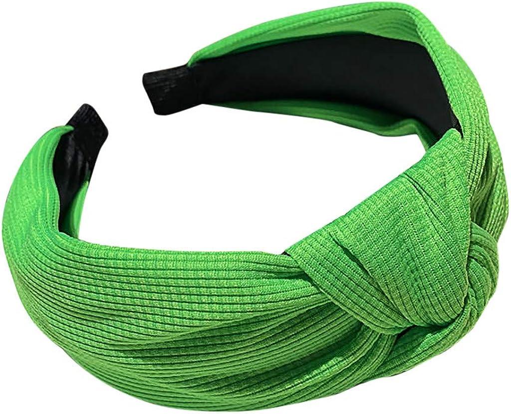 Fashion Women Fluorescent Tie Hairpin Hairband Head Hoop Knot Hair Headband Wedding Headpiece,Hair Decor Accessory