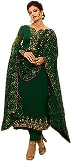 Designer Wedding Georgette Straight Suit Partywear Ready to wear Embroidered Indian Dress Salwar Kameez for Women