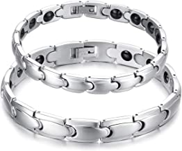 Feraco Stainless Steel Magnetic Therapy Bracelet Pain Relief for Arthritis with Remove Tool