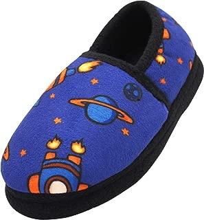 NORTY - Toddler Little Kid Big Kid Boys Fleece Memory Foam Slip On Indoor Slippers
