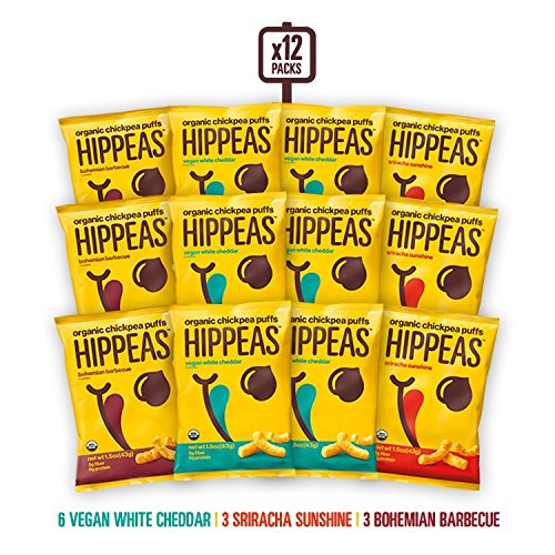 HIPPEAS Organic Chickpea Puffs + Variety Pack | 1.5 ounce, 12 count | Vegan, Gluten-Free, Crunchy,...