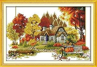 Happy Forever Cross Stitch Scenery, four seasons scenery, Autumn