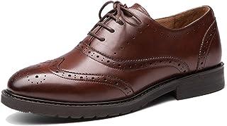 f06817f8609 TDA - Vestido de Piel con Cordones para Mujer, Estilo clásico, Oxford,  Zapatos