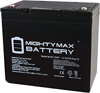 Mighty Max Battery 12V 55AH Internal Thread Battery Replacement for Interstate DCM0055 Brand Product