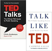 Ted Talks and Talk Like TED 2 Books Collection set (TED Talks: The official TED guide to public speaking ,Talk Like TED: The 9 Public Speaking Secrets of the World's Top Minds)