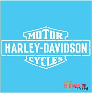 Standard Brilliant Blue Color Material Long Form Stencil - Harley Davidson Motor Cycles Wide Template-XS (11