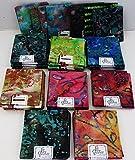 Batik Fat Quarter ~ 4er Set 100% Baumwolle ~ Batikdruck ~