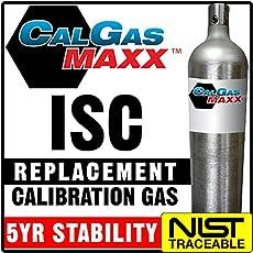 Industrial Scientific 1810-9155 Equivalent Replacement Calibration Gas: 25% LEL Pentane, 18% Oxygen, 100 ppm Carbon Monoxide, 25 ppm Hydrogen Sulfide, Balance Nitrogen