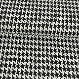 Jacquard Jersey Hahnentritt schwarz weiß Modestoffe -