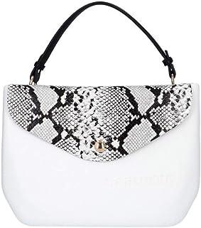 CAFèNOIR BJ0001 Einkaufstasche aus weißer Python für Damen