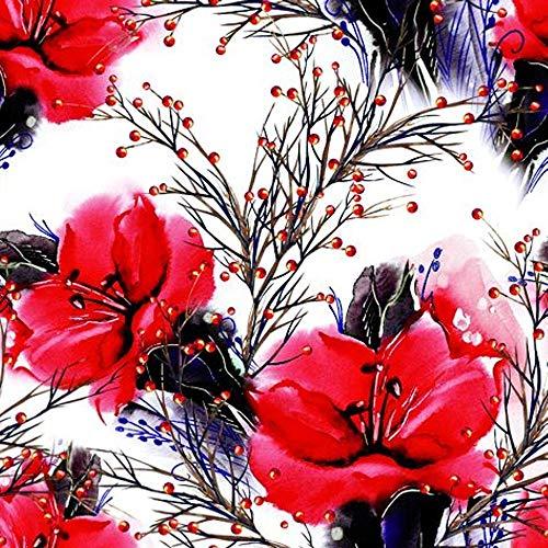 linoows 20 Servietten Weihnachten, Rote Amaryllis und Vogelbeere 33x33 cm