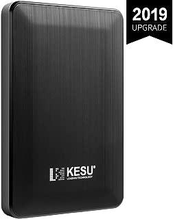 超薄型外付けHDD ポータブルハードディスク 500GB 2.5インチ USB3.0に対応 PC/Mac/PS4/XBox適用 (Black)
