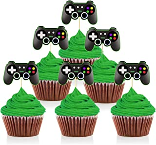 Mity rain Video Game Controllers Cupcake Toppers-Gamepad Cake Picks Game Themed Birthday Anniversary Wedding Engagement Pa...