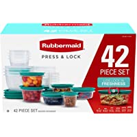 42-Piece Rubbermaid Press & Lock Easy Find Lids Food Storage Containers