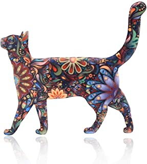 Chili Jewelry Individuality Animals Acrylic Cat Brooch Pin Colorful Unisex Costume Decorations Brooches Jewelry