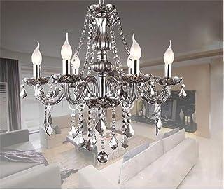 Junhong Lighting Chandeliers LED 3 Brightness Smoke Grey Crystal Candle Chandelier Ceiling Lights Fixture Lamp Pendant Lig...