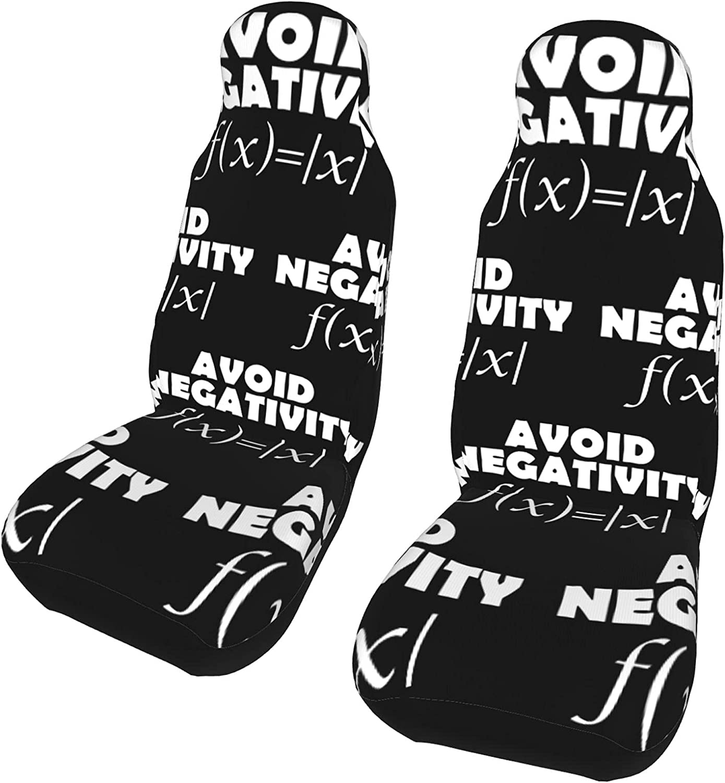 Avoid Mesa Mall Negativity Funny Free shipping / New Math 2 Pcs Set Vehicle Car Fr Seat Covers