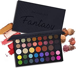 CHANGEABLE Fantasy Eyeshadow Makeup Palette Set Professional 39 Colors Matte Shimmer Eye Shadow Pallet Natural Nude Pigmented Blendable Cosmetics