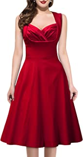 Women's Vintage 1950s Style Sleeveless Evening Party Dress