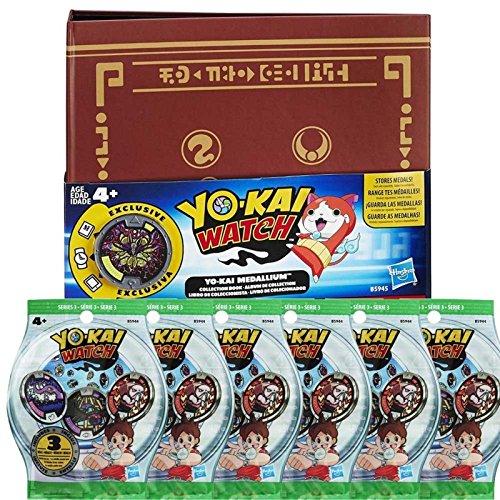 Yo-kai Watch Medallium - 6 bolsas de 3 medallas