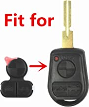 HelloAuto for BMW Key Replacement Button Pad Smart Remote Key Fob Shell Case Cover Pad for BMW 318i 323i 525i 528i 530i 535i 540i 735i 740i 740iL Z3