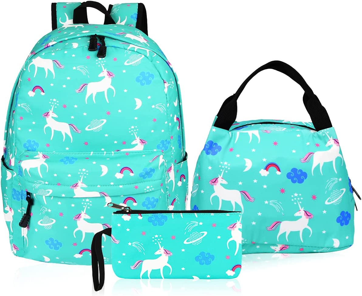 Girls Backpack Aitok Teen New sales Canvas Max 75% OFF Bag Set with School Lunc