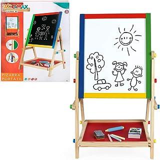 comprar comparacion WOOMAX- Pizarra doble con caballete de madera (Colorbaby 43688)