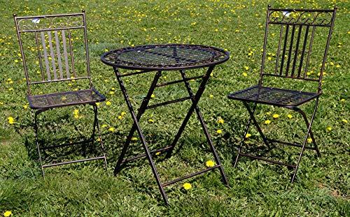 """Exklusive Sitzgruppe """"Eliza"""", Gartentisch mit 2 Stühlen, Gartengarnitur, sehr stabile Metallausführung, klappbar kaufen  Bild 1*"""