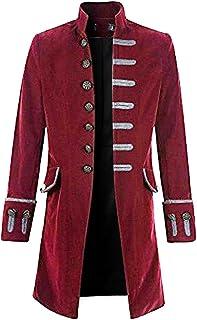 fce34da25 Rera Homme Veste Costume Longue Slim Fit Queue de Morue Jacket Coat Manches  Longues Col Mao