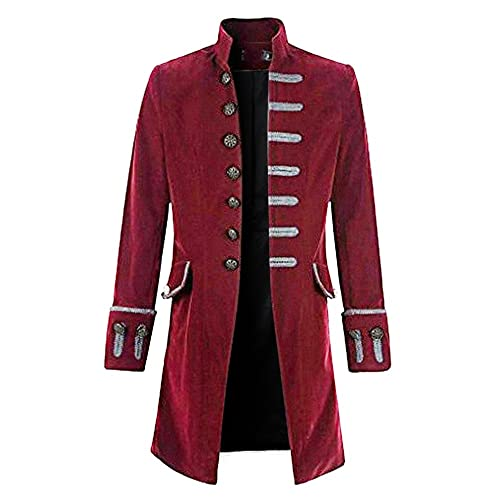 Rera Men s Steampunk Vintage Tailcoat Jacket Gothic Victorian Coat  Halloween Uniform Costume 84f6908cf50