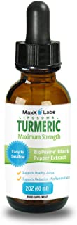 Turmeric Liquid - Highest Potency 800mg - Liposomal Tumeric Drops with BioPerine Black Pepper Extract - Antioxidant, Pain ...