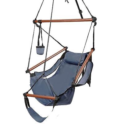Lovinland Rope Hammock Hanging Chair Swing Seat...