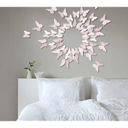Extsud 12 Pcs DIY 3D Papillons Stickers Muraux Stiker Mural Autocollants Maison Décor Style Moderne Bricolage Art Papillon Home Décoration avec Cristal Central pour Garderie,Salon,Chambre,Bébé,Enfant