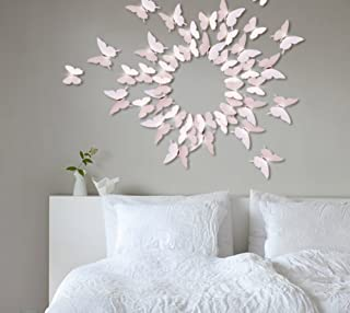 Extsud 12 Pcs DIY 3D Papillons Stickers Muraux Stiker Mural Autocollants Maison Décor Style Moderne Bricolage Art Papillon...