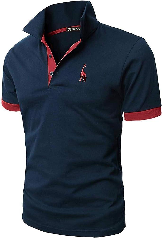 Ghyugr polo maglietta da uomo a maniche corte 100% cotone shenkaclothing0310-C